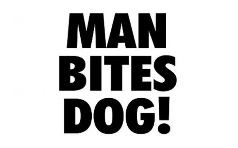 Man Bites Dog…Under its Left Eye