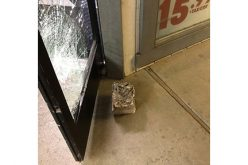Concrete Block Unsuccessfully Thrown in Burglary Attempt