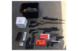 Man Arrested Inside Home with Numerous Illegal Firearms