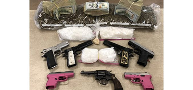 3 Warrants at 3 Locations Yield Drugs, Guns, Cash, 3 Arrests