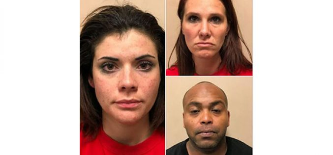 Three Occupants, Two Fake Names, Three Arrests