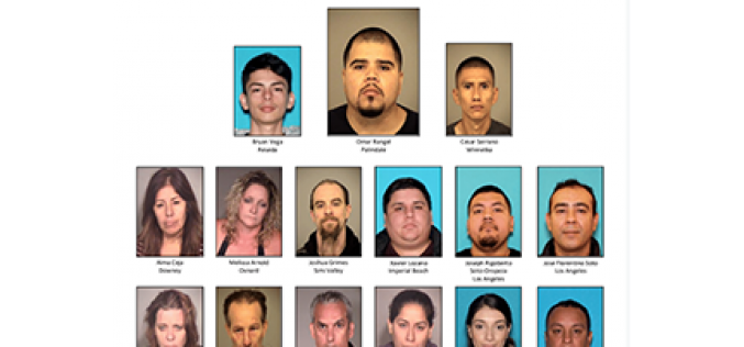 "15 Arrested in $10,000,000 ""Operation La Familia"" Drug Bust"