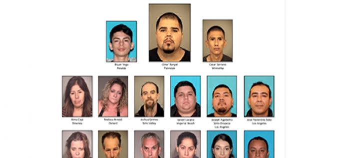 """15 Arrested in $10,000,000 """"Operation La Familia"""" Drug Bust"""