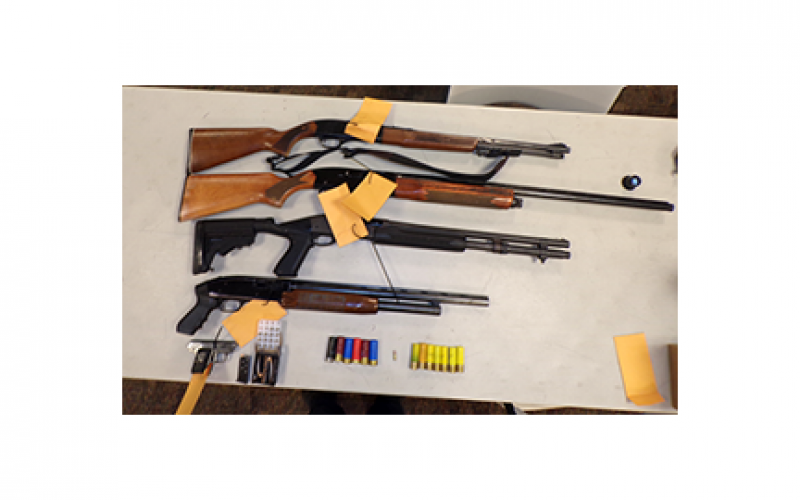 Man Brandishing Shotgun Leads to Three Arrests