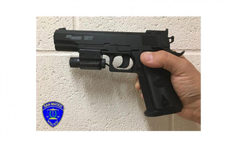 Man Brandishing Replica Handgun Quickly Arrested