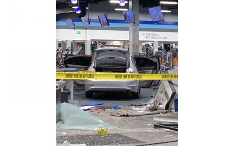 Customer Arrested for using Stolen Car to Demolish Crunch Fitness