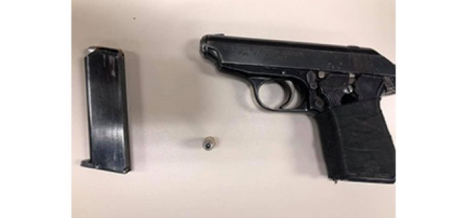 Felon with loaded gun resists arrest at first