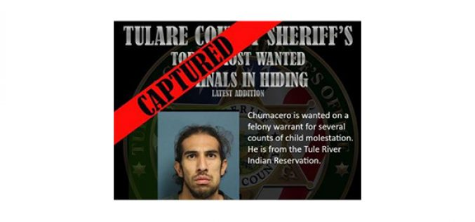 Tulare County Sheriff Office Crosses Two Names off Their Top 10 Most Wanted