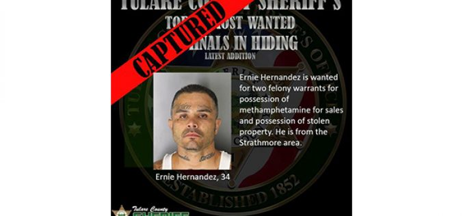 Tulare County Captures another Top 10 Most Wanted