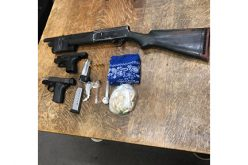 Pair arrested with guns and meth at 3:00 AM