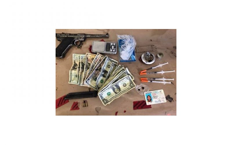 Meth, Heroin, Needles, and Stolen Gun Found In Car