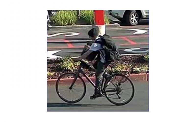 Bicycle thief caught riding a stolen bicycle