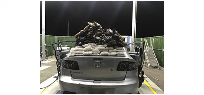 Two big methamphetamine busts at the border in two days