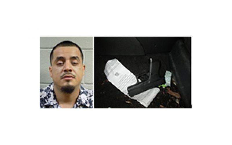 He left a stolen Glock in plain view in his Honda