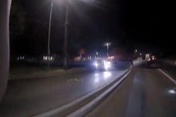 Suspected drunk driver sails through perimeter, strikes patrol car, and ends up under arrest