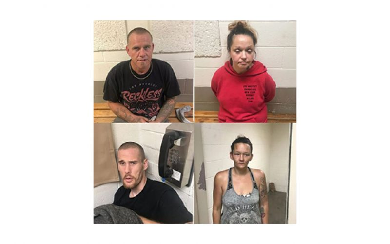 Recovery of stolen tools leads to the arrest of four people