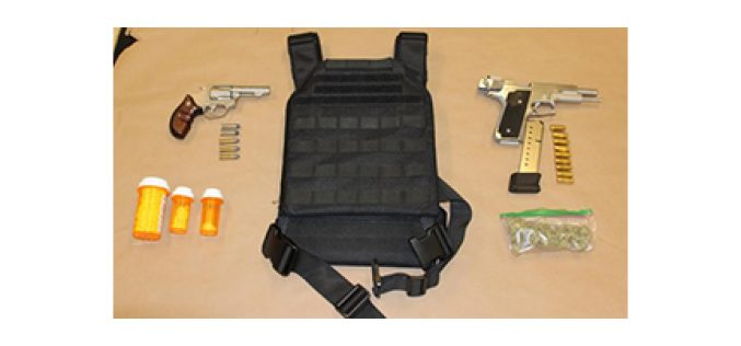 2 Men Pulled Over for Erratic Driving Nabbed for Firearms and Narcotics