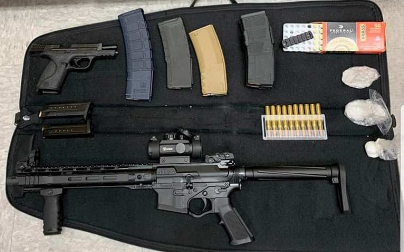 Suspicious behavior leads to discovery of guns, ammo, drugs during traffic stop