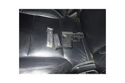 Gun confiscated after alleged brandishing