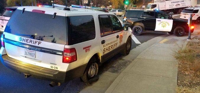Man leads pursuit in stolen El Dorado Sheriff patrol SUV