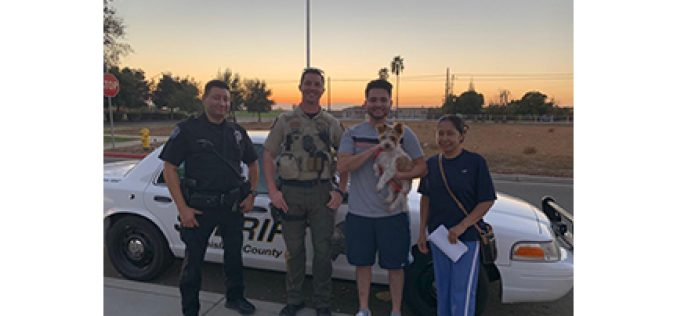 Modesto Police Department helps to rescue lost dog
