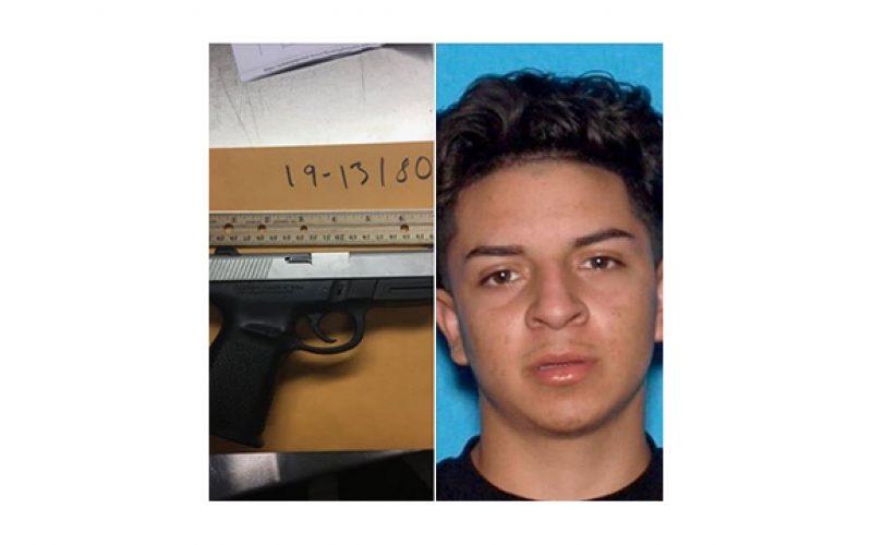A young man with marijuana and a gun