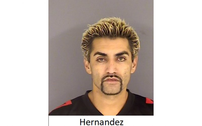 Traffic violation, and two arrests, in Hollister