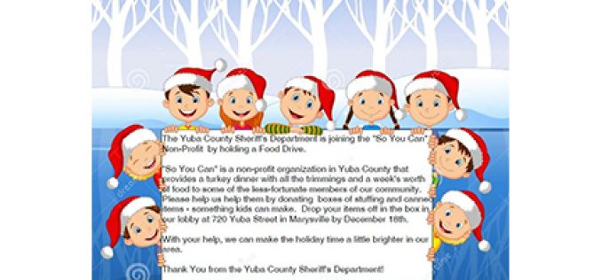 Yuba County Sheriff's Office helps neighbors in need