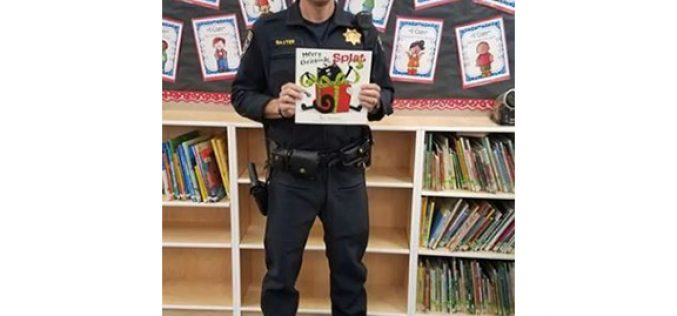 Officers visit elementary school to promote safety