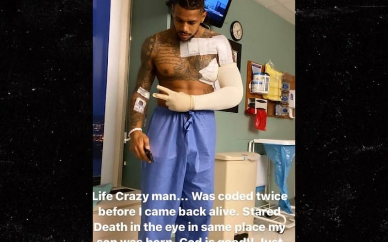 Terrelle Pryor Full-Body Shot of Stabbing Injury, Says He Almost Died Twice