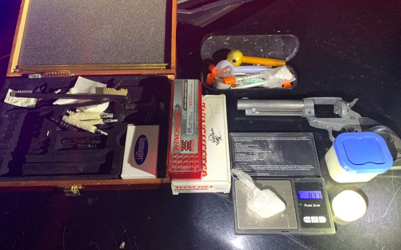 Stolen gun & suspected meth lead to arrest of two in Wheatland