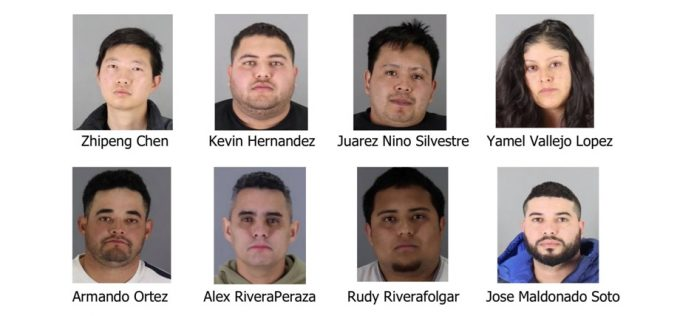 San Mateo Sheriff's Dept. arrests eight in black market sales of stolen goods