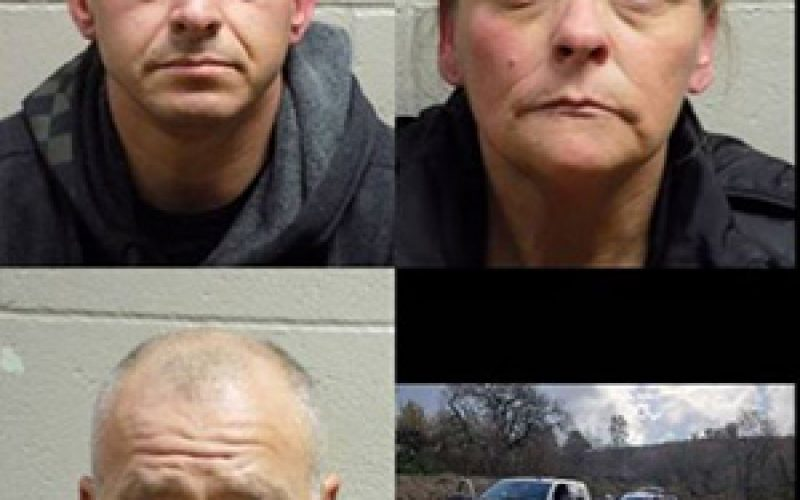 Patrolling deputy spots and nabs three mail thieves