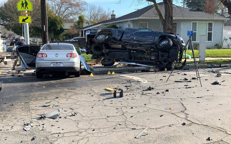 Suspect in vehicle theft, hit-and-run collision arrested; woman and child injured