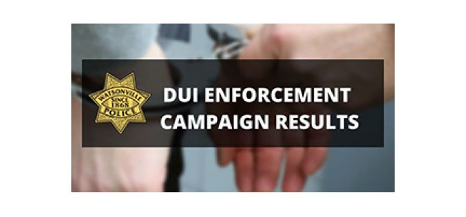 Watsonville DUI Enforcement during the holidays