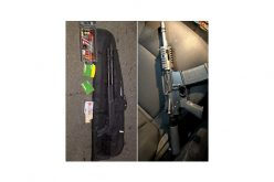 Traffic stop and pursuit lead to accident and weapons arrest