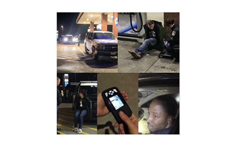 Thumbprint scanner, License plate reader aid in arrests