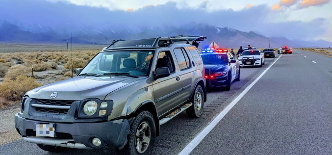 Auburn woman booked for felony evasion, misdemeanor DUI in Inyo County