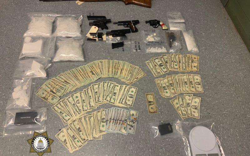 Coke, meth, guns, cash seized in Sacramento County narcotics investigation