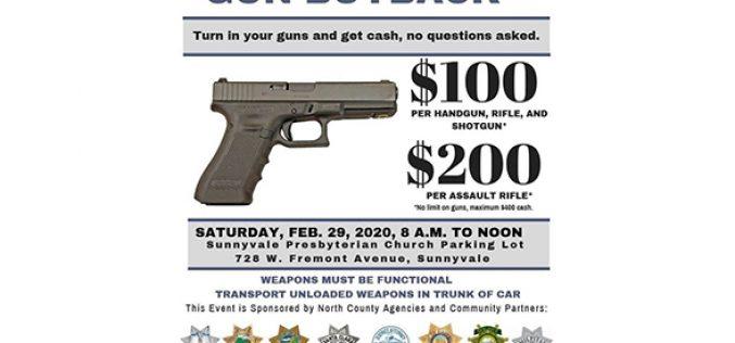 Gun Buyback announced in Sunnyvale