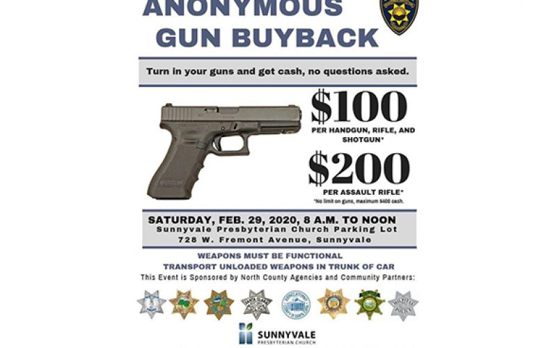 Gun Buyback announced in Sunnyvale
