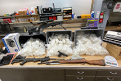 Investigation results in seizure of meth, guns, ammo