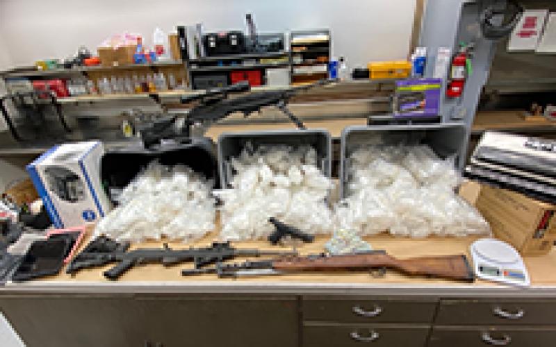 Investigation results in seizure of meth, guns, ammo