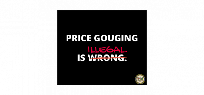 Price gouging is a crime in any county