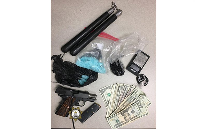 Stolen travel trailer with guns, heroin, meth and a perp-NEEDS LINK