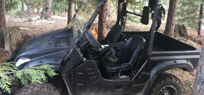 Grass Valley Police recover stolen UTV