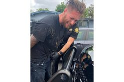 Stolen SUV Crashes, Wheel Falls Off, Suspect Caught with Stolen Tools