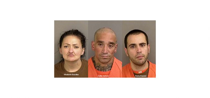 Three arrested for Saturday afternoon residential burglary