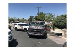 Pepper Spray, High-Speed Police Pursuit  – Graffiti-Covered Van Gone Wild