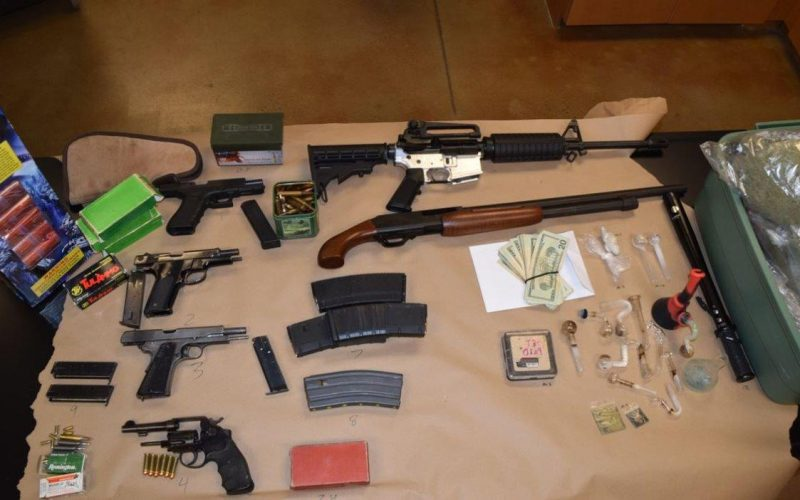 Calaveras County Narcotics Enforcement arrests three, seizes troves of weapons and drugs